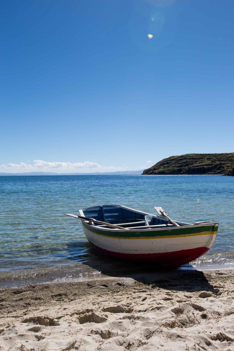 Boat on Isla del Sol