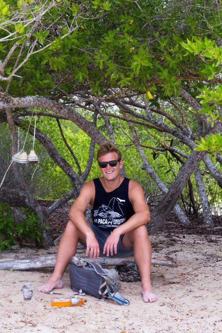 Will hanging out at Tortuga Bay, Galapagos