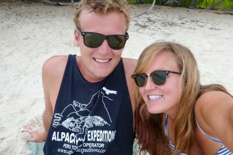 Hanging out at Tortuga Bay, Galapagos