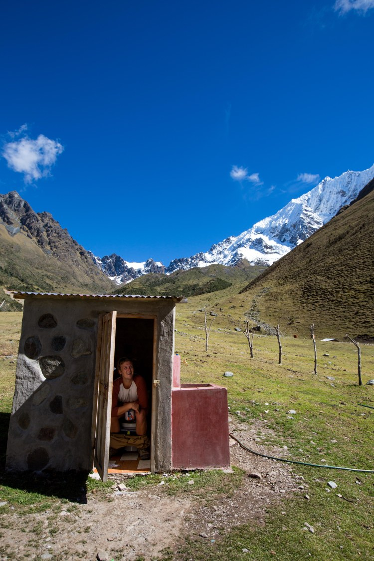 Will in outside toilet - Salkantay trek