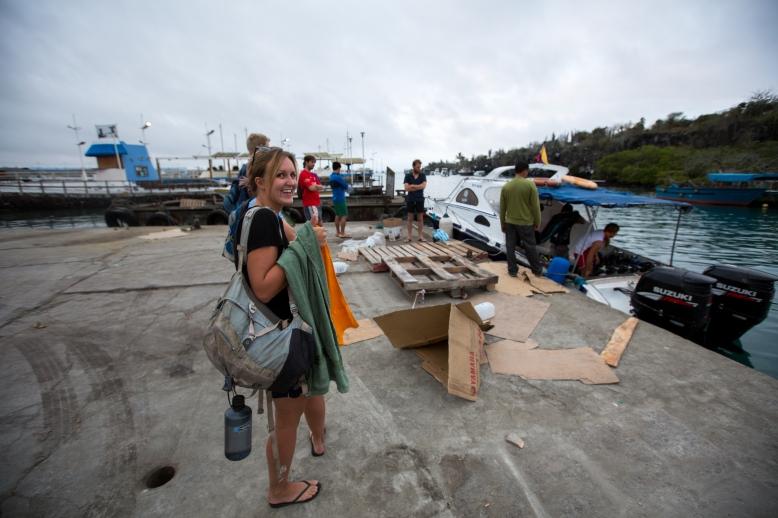 Boarding the dive boat - Santa Cruz, Galapagos