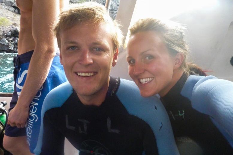 Ready to go diving - Santa Cruz, Galapagos